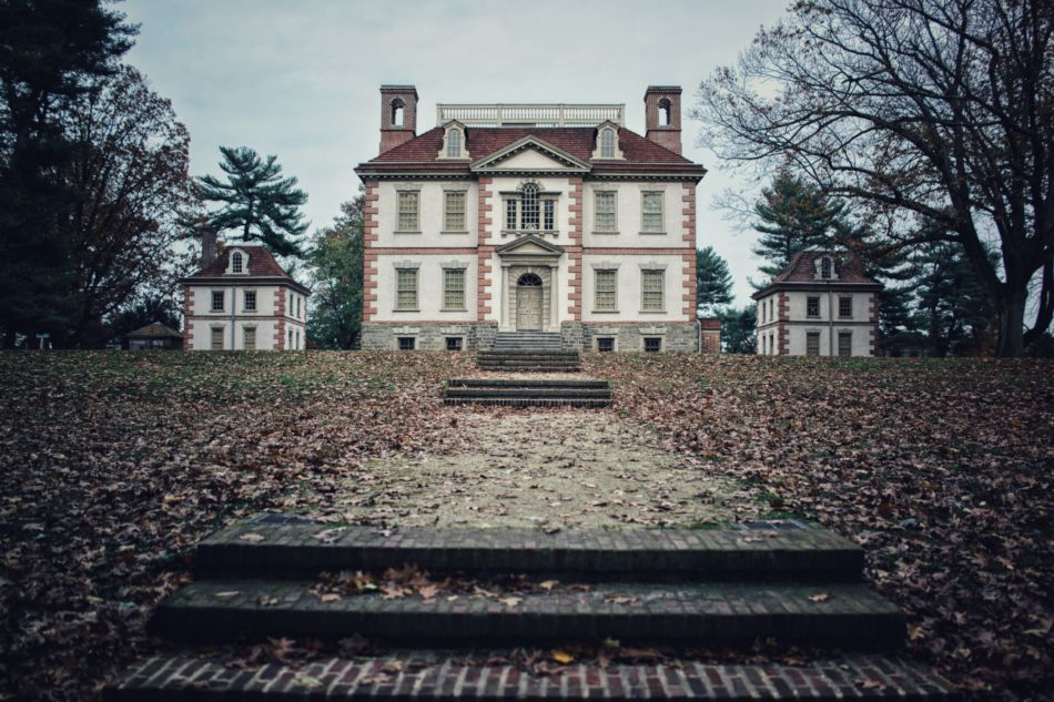 A large ornate historic mansion.